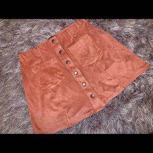 Forver 21 pink button skirt